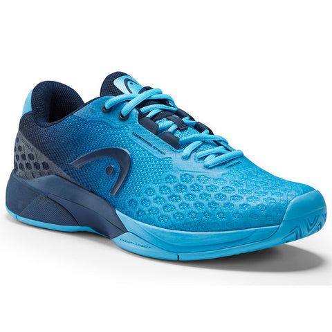 Head Revolt Pro 3.0 Men's Tennis Shoe (Aqua/Black) - RacquetGuys