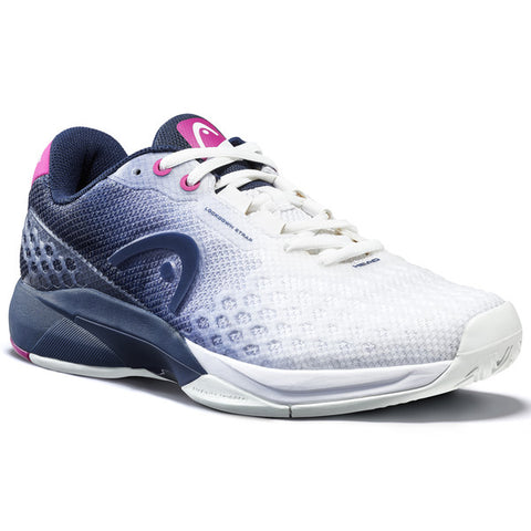 Head Revolt Pro 3.0 Women's Tennis Shoe (White/Blue) - RacquetGuys.ca