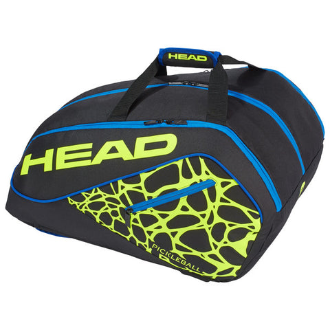 Head Tour Team Pickleball Supercombi Bag (Black/Yellow) - RacquetGuys.ca