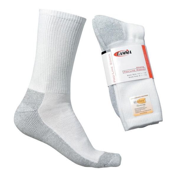 Gamma Men's Pro-Line Socks (White) - RacquetGuys