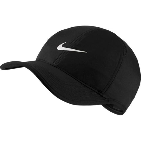 Nike AeroBill Featherlight Tennis Cap (Black)