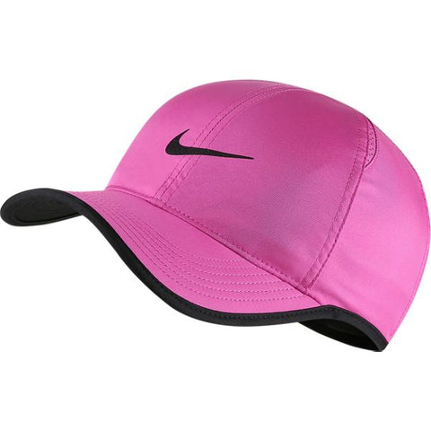 Nike AeroBill Featherlight Hat (Fuchsia/Black) - RacquetGuys