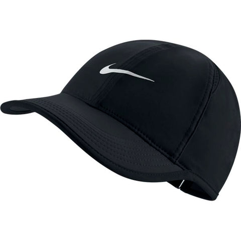 Nike Women's AeroBill Featherlight Tennis Cap (Black)