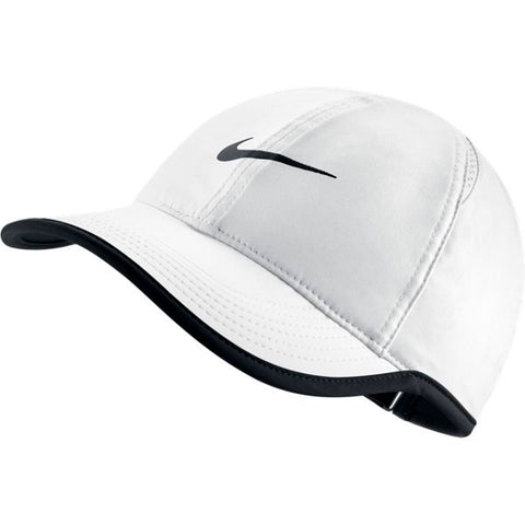 Nike Women's AeroBill Featherlight Tennis Cap (White)