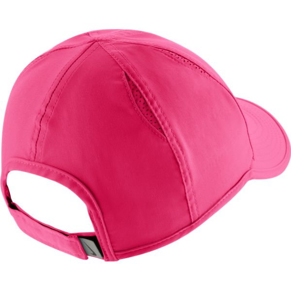 Nike Womens AeroBill Featherlight Tennis Cap (Pink) 6a2c6db3db0