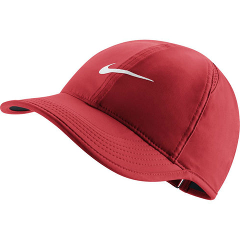 Nike Women's AeroBill Featherlight Tennis Hat (Red) - RacquetGuys