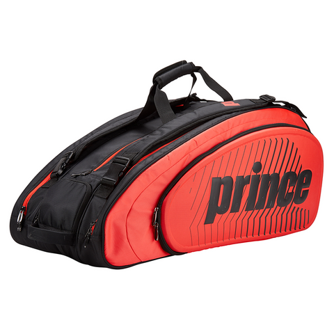 Prince Tour Slam 12 Pack Racquet Bag (Black/Red) - RacquetGuys