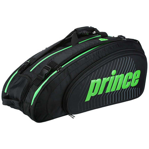 Prince Tour Slam 12 Pack Racquet Bag (Black/Green) - RacquetGuys