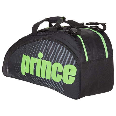 Prince Tour Futures 6 Pack Racquet Bag (Black/Green)
