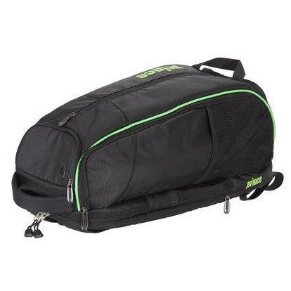 Prince Tour BackPack Dufflepack Racquet Bag (Black/Green) - RacquetGuys