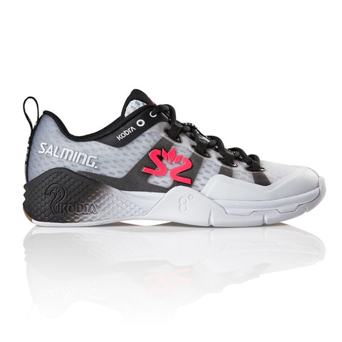 Salming Kobra 2 Women's Indoor Court Shoe (White/Black) - RacquetGuys