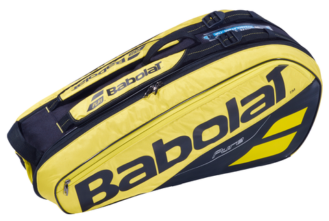 Babolat Pure 6 Pack Racquet Bag (Yellow/Black) - RacquetGuys