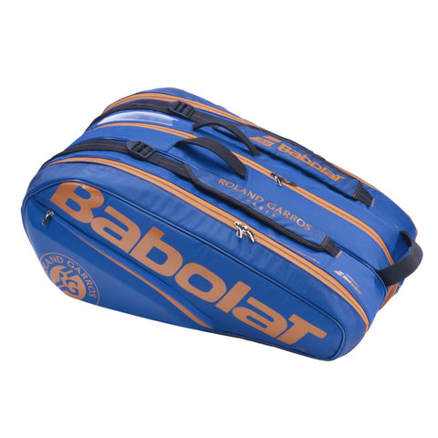 Babolat Roland Garros 12 Pack Racquet Bag (Blue/Orange) - RacquetGuys