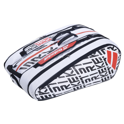 Babolat Pure Strike 12 Pack Racquet Bag (White) - RacquetGuys