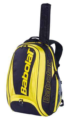 Babolat Pure Aero Backpack Racquet Bag (Yellow) - RacquetGuys