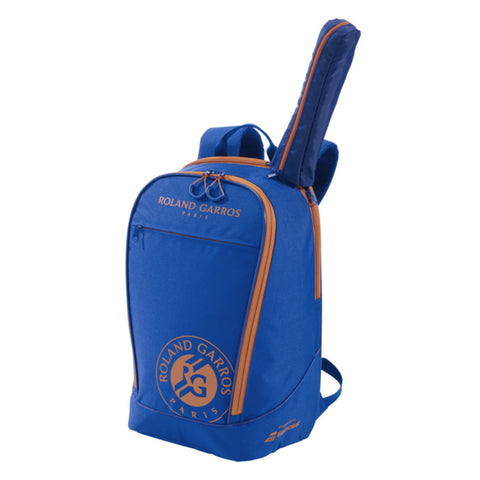 Babolat Club Roland Garros Backpack Racquet Bag (Blue/Orange) - RacquetGuys