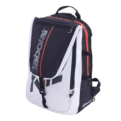 Babolat Pure Strike 3 Racquet Backpack (White/Black/Red) - RacquetGuys