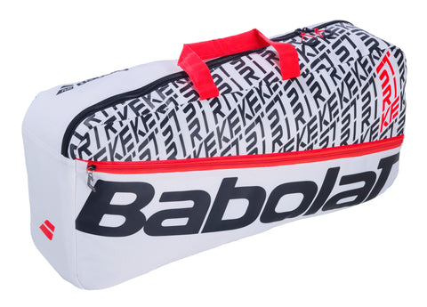 Babolat Pure Strike Duffle 6 Pack Racquet Bag (White/Black/Red) - RacquetGuys