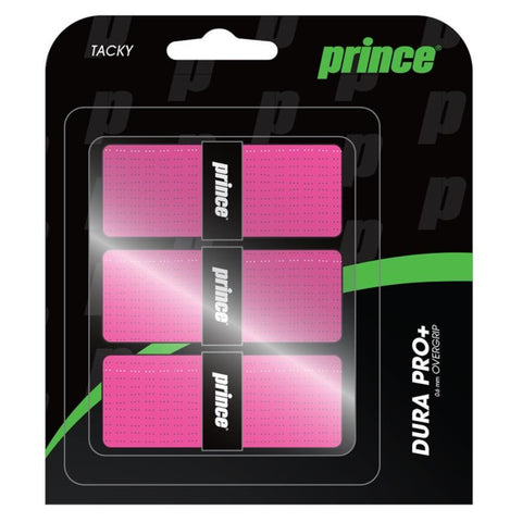 Prince Dura Pro+ Overgrip 3 Pack (Pink) - RacquetGuys.ca