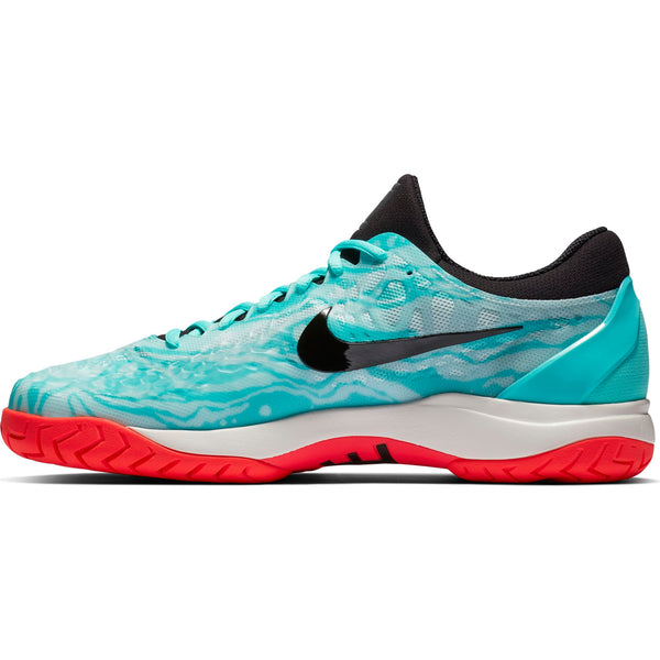 Nike Zoom Cage 3 Men's Tennis Shoe (Green/Black/Teal) - RacquetGuys