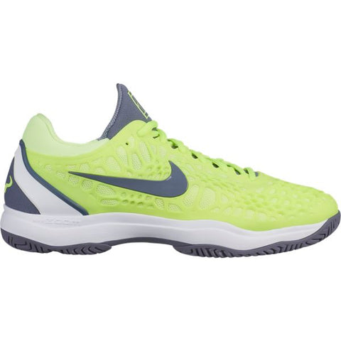 Nike Zoom Cage 3 Men's Tennis Shoe (Neon Yellow/White) - RacquetGuys