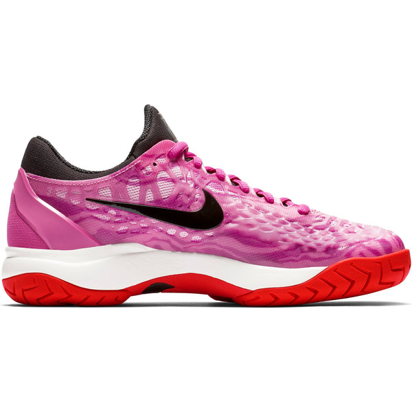 Nike Zoom Cage 3 Women's Tennis Shoe (Fuchsia/Black) - RacquetGuys