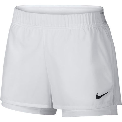 Nike Women's Flex Shorts (White) - RacquetGuys