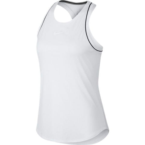 Nike Women's Dri-FIT Tank Top (White) - RacquetGuys