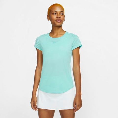 Nike Women's Dri-Fit Top (Light Aqua) - RacquetGuys