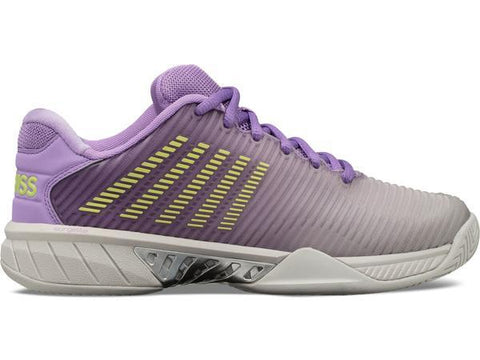 K-Swiss Hypercourt Express 2 Women's Tennis Shoe (Grey/Purple) - RacquetGuys