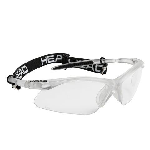 HEAD Icon Pro Eyeguard (White/Silver) - RacquetGuys
