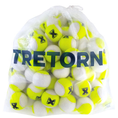 Tretorn Micro-X Pressureless Tennis Balls - Bag/72 (Yellow/White)