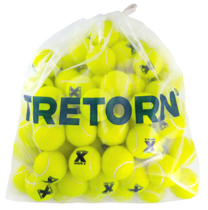 Tretorn Micro-X Pressureless Tennis Balls - Bag/72 (Yellow) - RacquetGuys