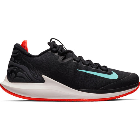 Nike Air Zoom Zero Men's Tennis Shoe (Black/Green/Red)