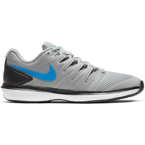 Nike Air Zoom Prestige Men's Tennis Shoe (Grey/Blue) - RacquetGuys
