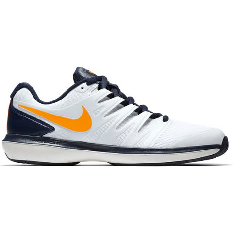 Nike Air Zoom Prestige Mens Tennis Shoe (White/Orange/Blue)