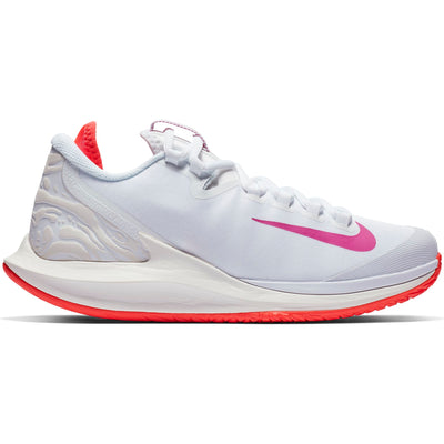 Nike Air Zoom Zero Women's Tennis Shoe (White/Fuchsia)