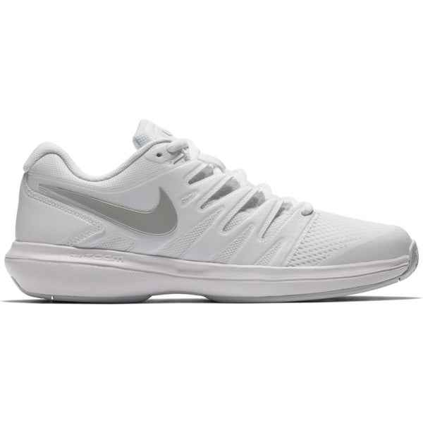 Nike Air Zoom Prestige Women's Tennis Shoe (White/Silver/Platinum)