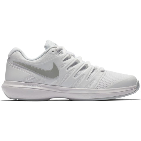 Nike Air Zoom Prestige Women's Tennis Shoe (White/Silver/Platinum) - RacquetGuys