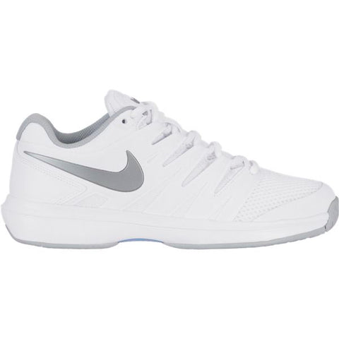 Nike Air Zoom Prestige Women's Tennis Shoe (White/Silver) - RacquetGuys