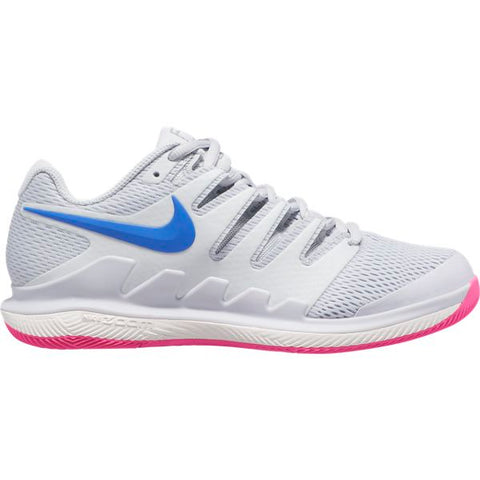 Nike Air Zoom Vapor X Women's Tennis Shoe (Pure Platinum/Racer Blue) - RacquetGuys