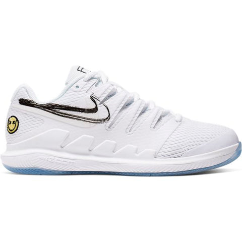 Nike Air Zoom Vapor X Women's Tennis Shoe (White/Light Blue) - RacquetGuys