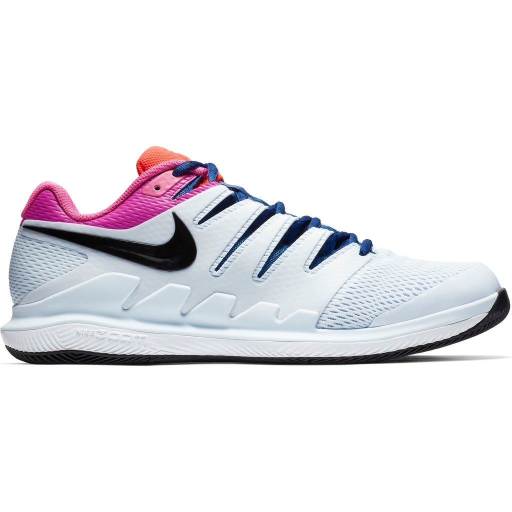 Nike Air Zoom Vapor X Men S Tennis Shoe White Blue Fuchsia Racquetguys Ca