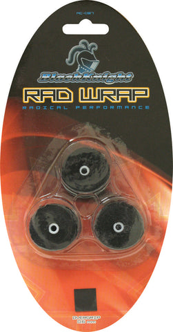 Black Knight RAD Wrap Overgrips 3 Pack (Black)