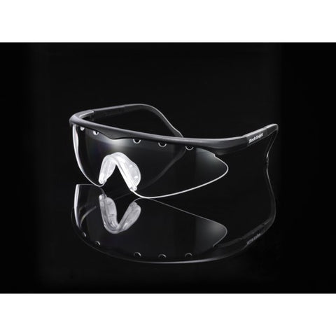 Black Knight Turbo Eyeguard Small (Black/Silver) - RacquetGuys