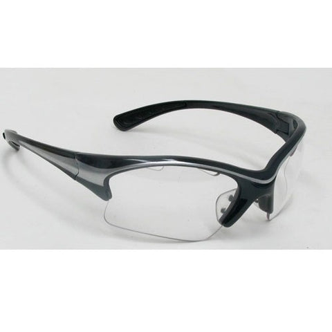 Black Knight Stiletto Eyeguard Small (Black/Silver) - RacquetGuys