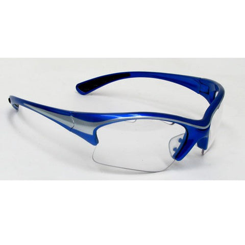 Black Knight Stiletto Eyeguard Small (Blue/Silver) - RacquetGuys