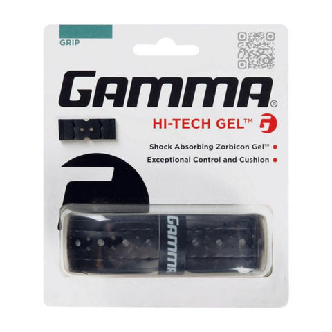 Gamma Hi-Tech Gel Replacement Grip (Black) - RacquetGuys.ca
