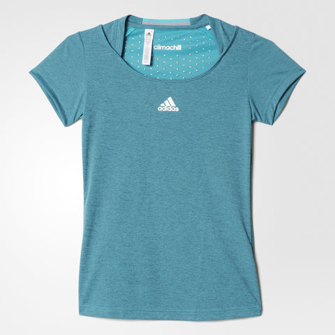 adidas Women's Uncontrol Climachill Top (Green) - RacquetGuys