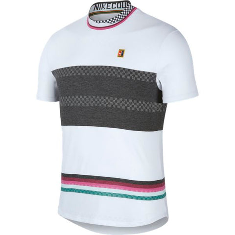 Nike Men's Challenger Top (White/Black) - RacquetGuys